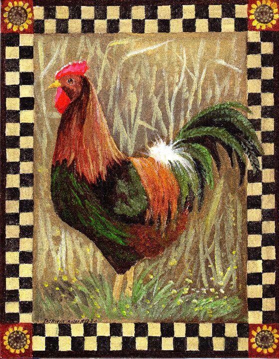 Barnyard King - by Patricia Ann Rizz - Patricia Ann Rizzo