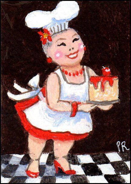 ACEO Chef LuLu 5 Star Baker - Patricia Ann Rizzo