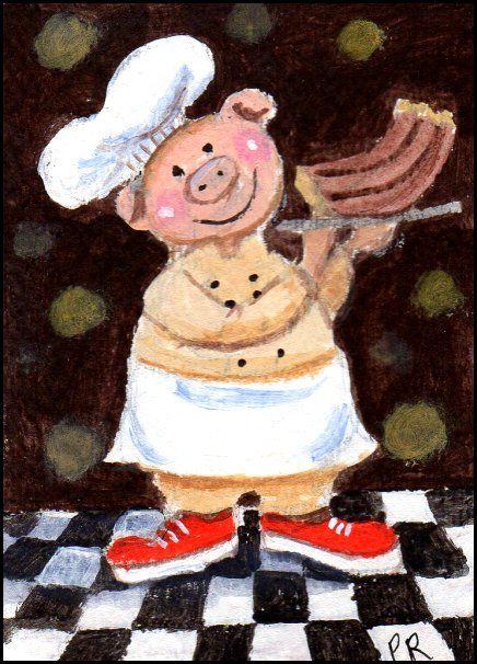 Chef La Porcine Pig with BBQ - Patricia Ann Rizzo