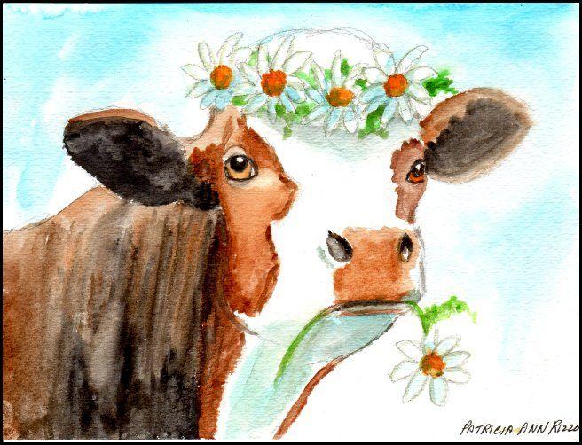 Original Art - Daisy the Cow - Patricia Ann Rizzo