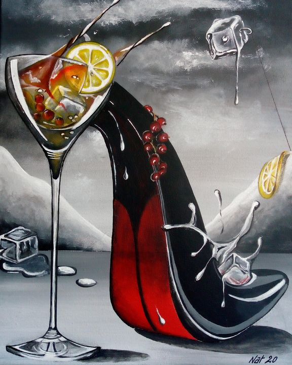 Un cocktail à votre pointure (vendu) - KOLACINSKI Natacha