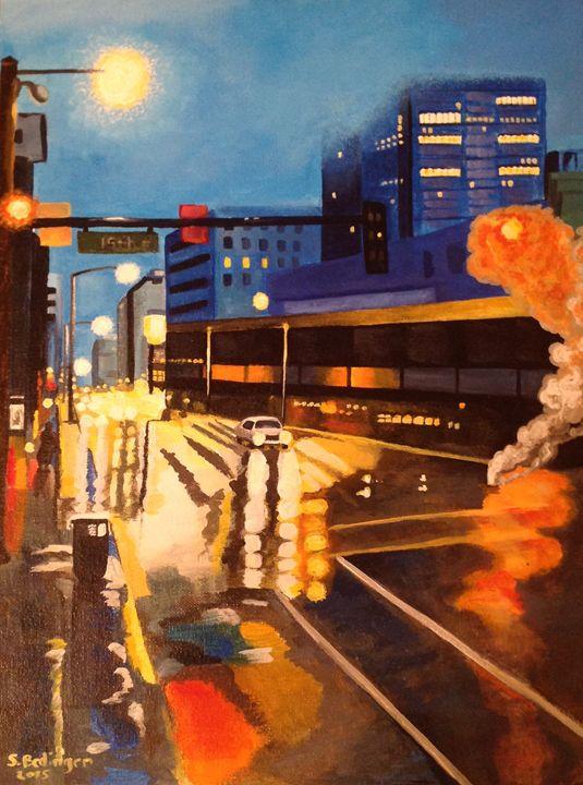 Denver CO city scape - Willow Street ART Company