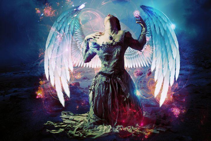 angel in pain - mithun art gallery