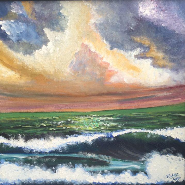 Sunset over sea - Radzart
