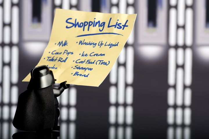 Vaders Shopping List - Jammy Photography