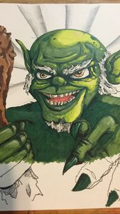 Green goblin - Dave's drawings