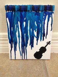 Crayon Art- Violin