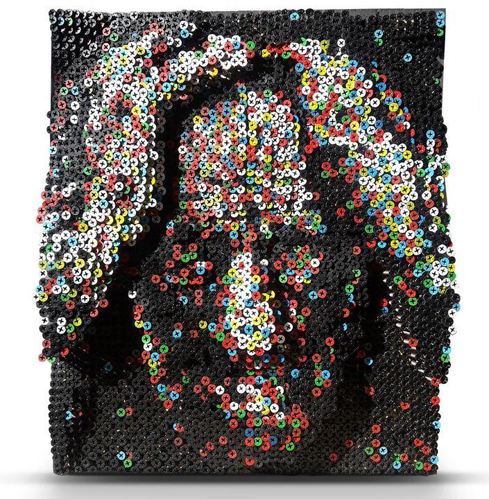 Danny Trejo Portrait, Machete (3d) - PixelArt