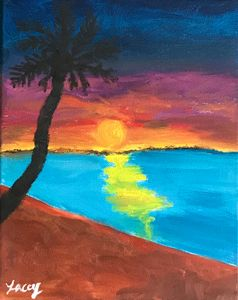 Sunset on the Beach - Lacey's Art