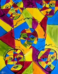 People & Shapes 2 - Lacey's Art