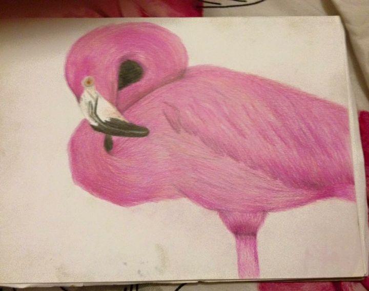 Sleeping flamingo - Animal Arts