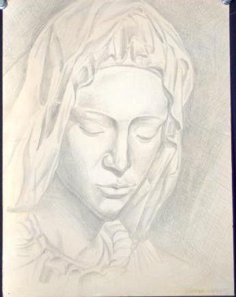 Study of Michangelo's Pieta - Award Winning Artist: Dazzala T. Cofield