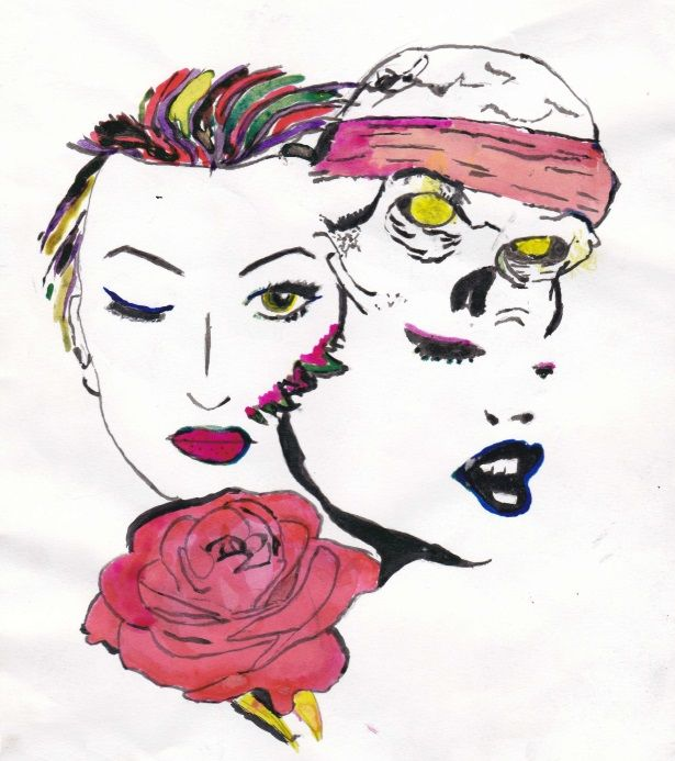 COLORFUL SKULL AND FACES DESIGN - SBDESIGNS