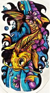 FISH TATTOO ART DESIGN