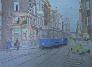 Utrechtsestraat met lijn 4