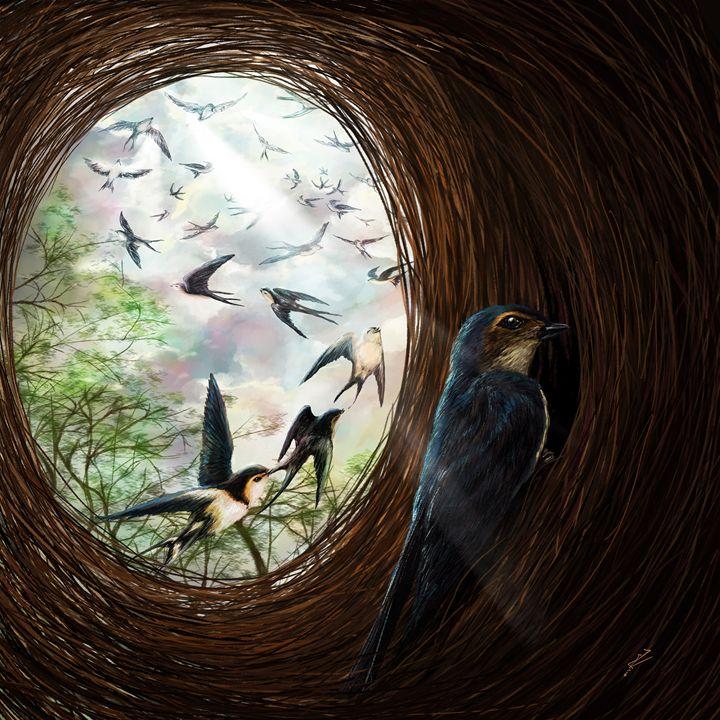 The swallow light - Iris Gat - Art