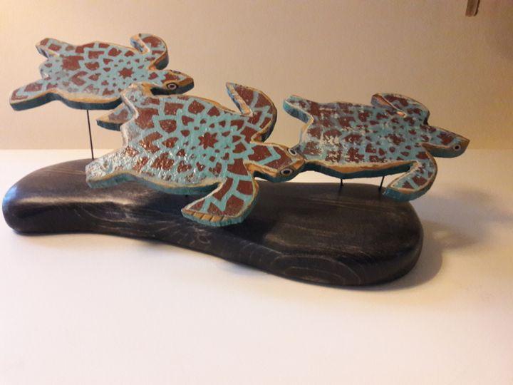 Atlantic Beach Turtles - Scotie Cousin Art