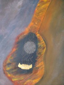 firing guitar