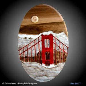 Golden Gate Bridge Wall Sculpture