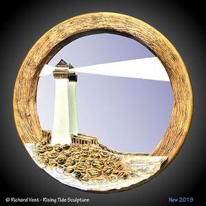 Lighthouse Wall Sculpture Mirror