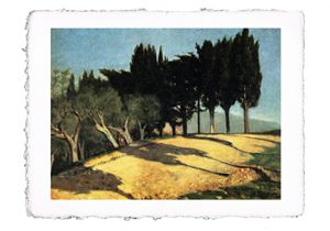 Abbati - Country Road with Cypresses