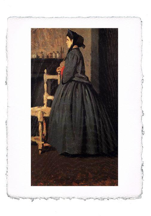 Abbati - Portrait of a Woman - ExpoitalyArt