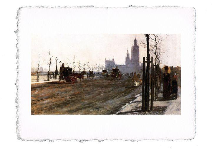 De Nittis - The Victoria Embankm... - ExpoitalyArt