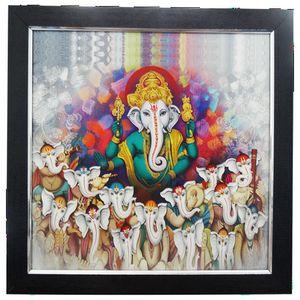 Multi Musician Ganesha In One Frame