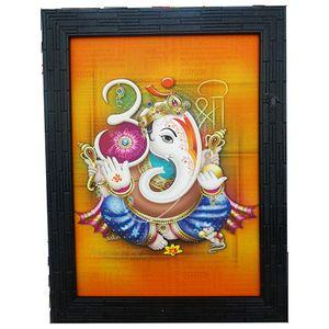 Om-Shri Side Face Ganesha