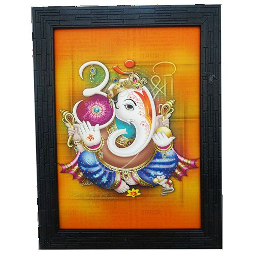 Om-Shri Side Face Ganesha - VGocart