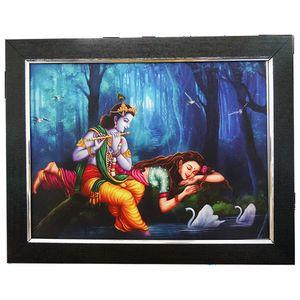 Radha Enjoying Krishna Magical Flute