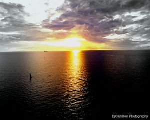 Sunset Along the Atlantic Ocean