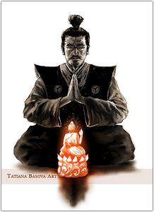 Samurai Buddha Bushido Art print
