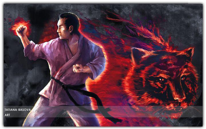 Masutatsu Oyama Portrait Karate - Elite Spirit
