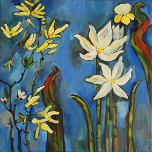Flowers. Blue