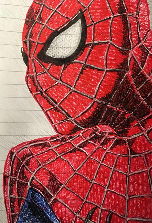 Freehand Sketch - Spiderman - RJG Sketchbook