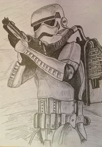 Pencil sketch - Stormtrooper
