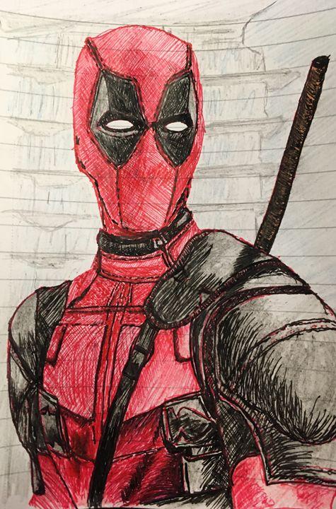 Freehand sketch - Deadpool - RJG Sketchbook