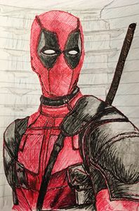 Freehand sketch - Deadpool