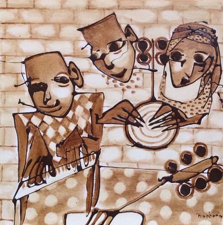 The Musicians - Bergur Thorberg Coffee Art