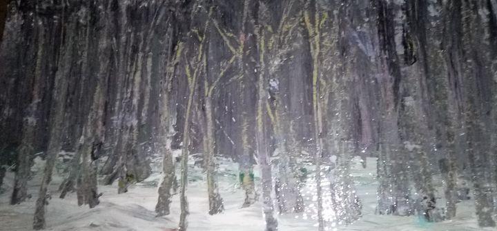 Winter woods - Basement Art by Mark