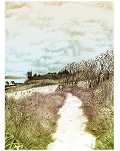 Crail, Scotland: Pencil sketch
