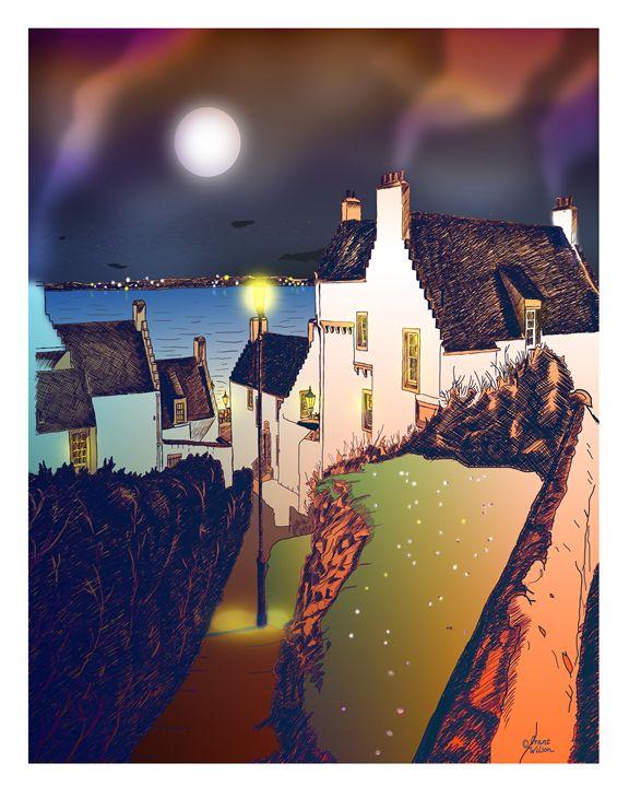 """""""Hie Gait"""" Dysart, Scotland: Night - grantwilson"""