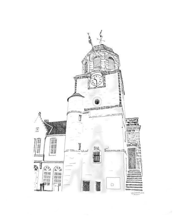 Tollbooth in Dysart, Scotland - grantwilson