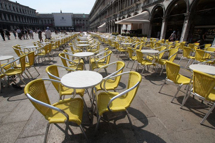 Yellow in St. Marks Square, Venice - Visions of the World