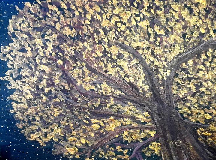 Fall Midnight Tree - MoyaPosas