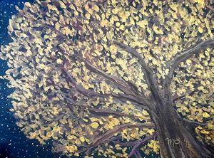 Fall Midnight Tree