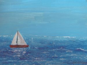 Sailing in the afternoon