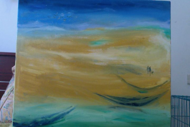 Alone in the sea - World of Art