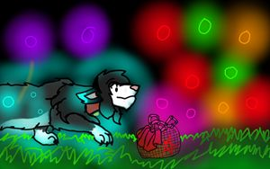 Wolf and basket